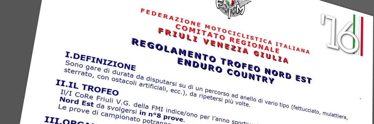 Pubblicato il Regolamento Enduro Country FVG 2018