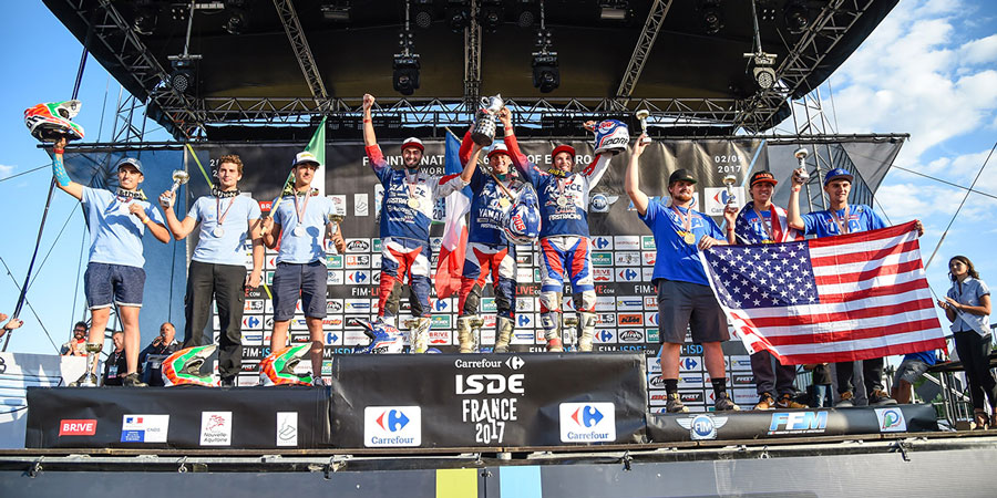 isde france 2017 podio junior italia secondo posto