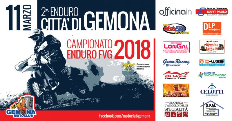 Campionato Regionale Enduro FVG 2018 al via con la gara di Gemona