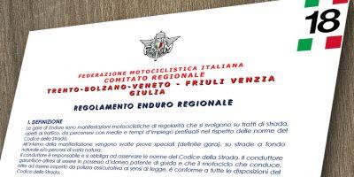 Regolamento Enduro Triveneto e Regionale 2020